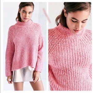 UO Silence + Noise Easton Pink Knit Sweater, M